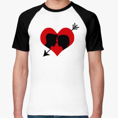 Футболка реглан Сердце хочет любви