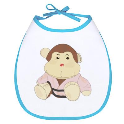 Слюнявчик  обезьяна-каратист