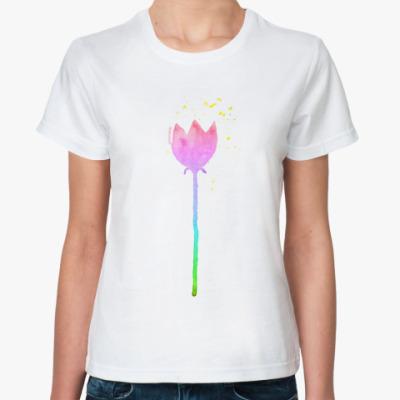 Классическая футболка Тюльпан