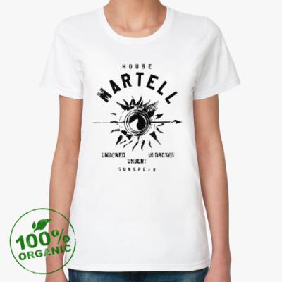 Женская футболка из органик-хлопка House Martell. Игра престолов