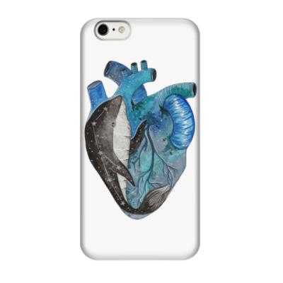 Чехол для iPhone 6/6s Сердце с китом