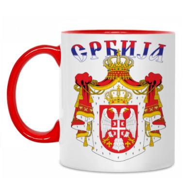 Кружка Большой герб Сербии