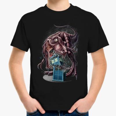 Детская футболка Тираннозавр VS Тардис