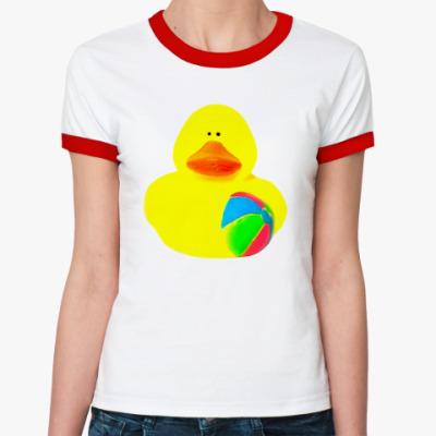 Женская футболка Ringer-T Просто утка