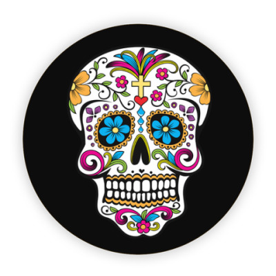Костер (подставка под кружку) Мексиканский череп Calavera
