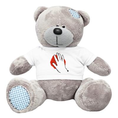 """Плюшевый мишка Тедди Мишка """"раненое сердце"""""""