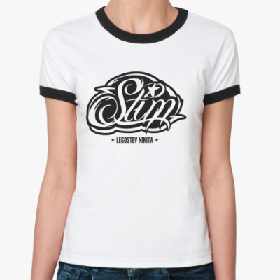 Женская футболка Ringer-T   ST1M
