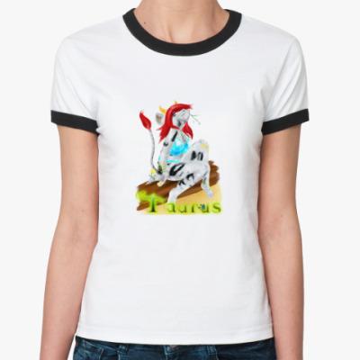 Женская футболка Ringer-T  'Телец'