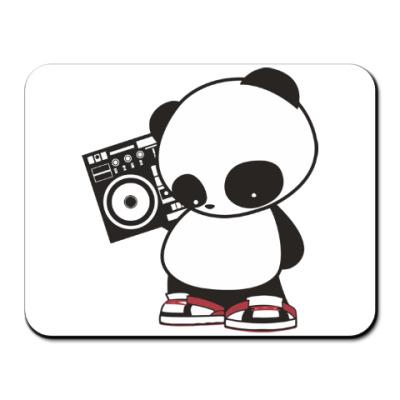 Коврик для мыши Панда с магнитофоном