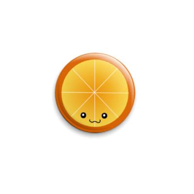 Значок 25мм Orange