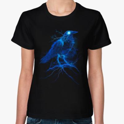 Женская футболка Ворона