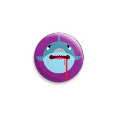 Значок 25мм Добрая Акула