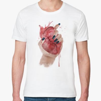 Футболка из органик-хлопка Сердце в руке