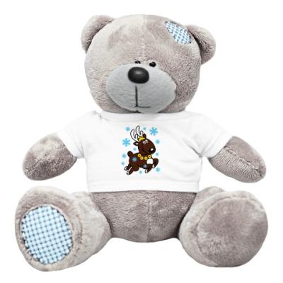 Плюшевый мишка Тедди Олень с бубенцами