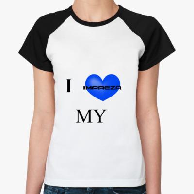 Женская футболка реглан   Impreza