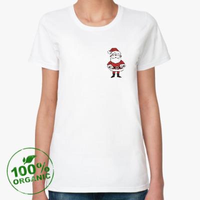 Женская футболка из органик-хлопка Дед Мороз!