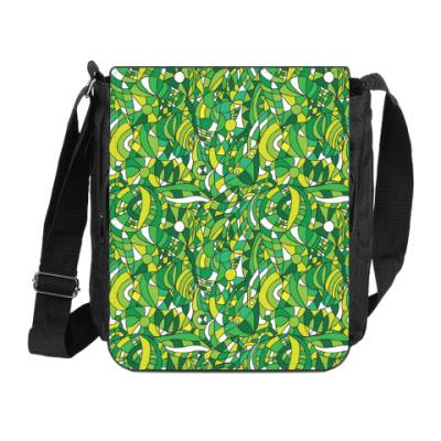 Сумка на плечо (мини-планшет) 'Зеленое лето'