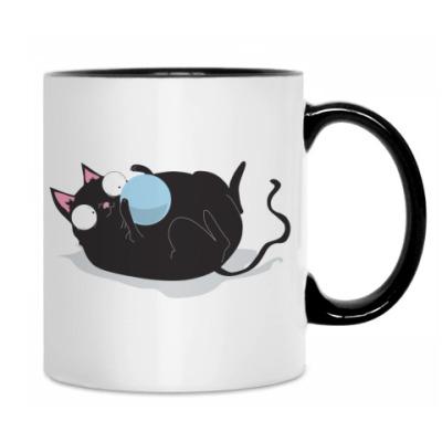 Кружка Кот и мячик