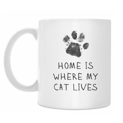 Кружка Home is where my Cat lives
