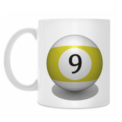 Кружка 'Бильярдный шар 9'