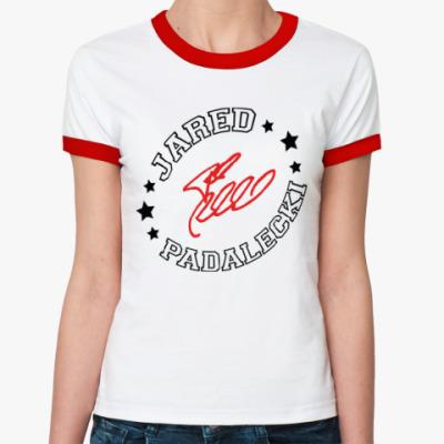Женская футболка Ringer-T Джаред Падалеки - Supernatural