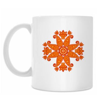 Кружка Индийский цветок