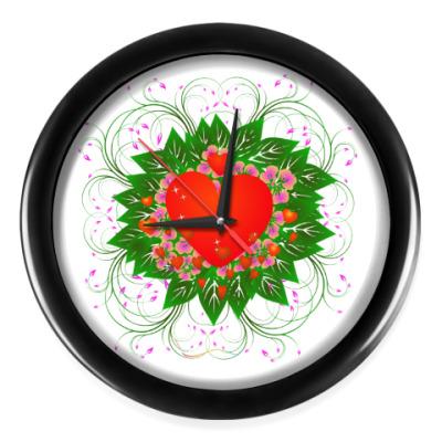 Настенные часы Heart Flower