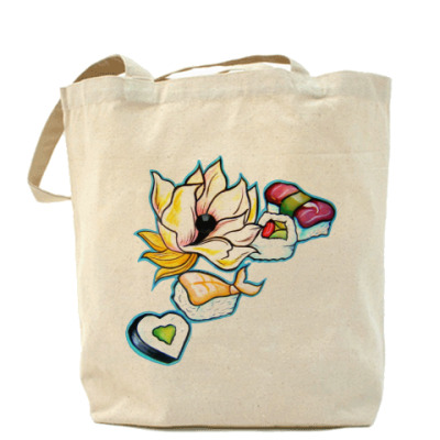 Сумка Sushi Flower Холщовая сумка