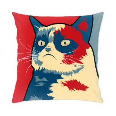 Подушка Угрюмый кот