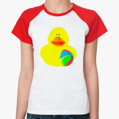 Женская футболка реглан Просто утка