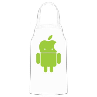 Фартук Андроид голова-яблоко