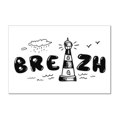Наклейка (стикер) Бретонский маяк