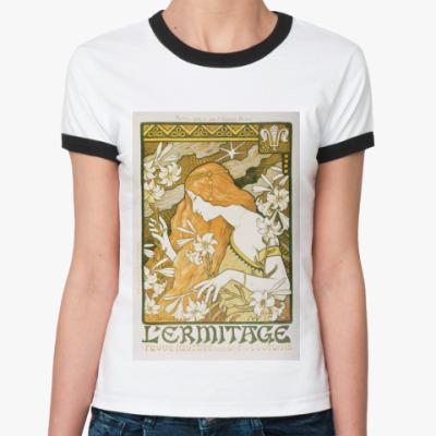 Женская футболка Ringer-T Этмитаж