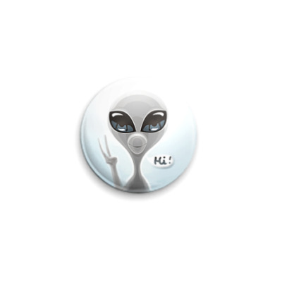 Значок 25мм Alien