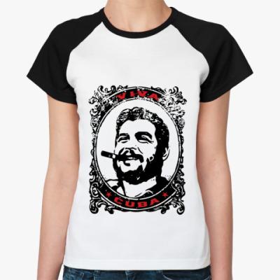 Женская футболка реглан Viva Cuba