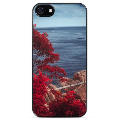 Чехол для iPhone Инфракрасный морской пейзаж / Infrared seascape