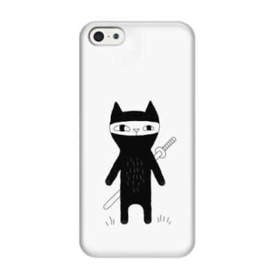 Чехол для iPhone 5/5s Кот-ниндзя
