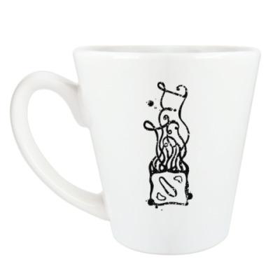 Чашка Латте Dota-Life. Гранж.