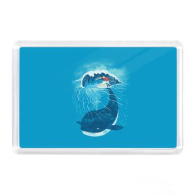 Магнит Серфер и кит