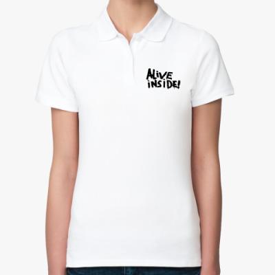 Женская рубашка поло Alive inside
