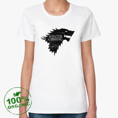 Женская футболка из органик-хлопка Winter is Coming