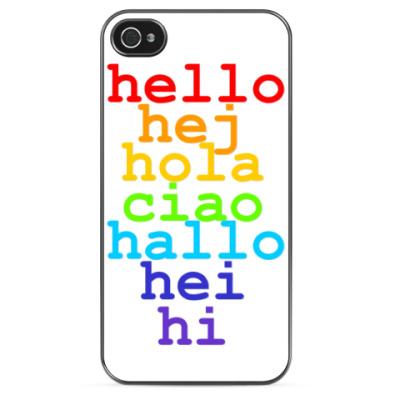 Чехол для iPhone Hello