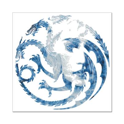 Наклейка (стикер) Khaleesi and Dragons