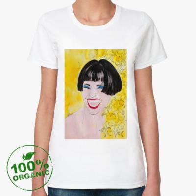 Женская футболка из органик-хлопка улыбка