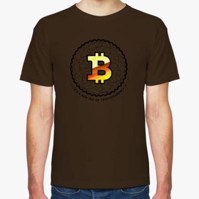Футболка BITCOIN - новая эра, эра криптовалют!