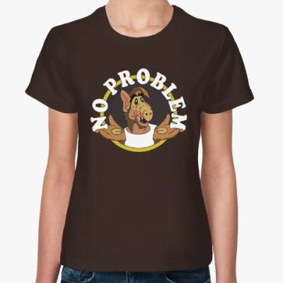 Женская футболка Альф - нет проблем