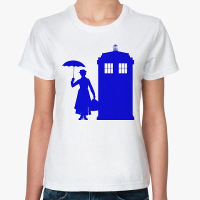 Классическая футболка Мэри Поппинс (Тардис)