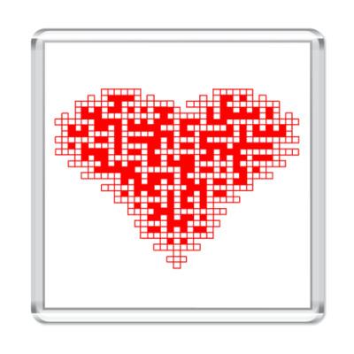 Магнит Сердце-кроссворд