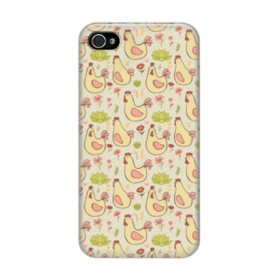 Чехол для iPhone 4/4s Петушки