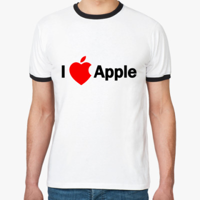 Футболка Ringer-T I love apple